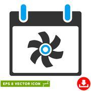 Fan Calendar Day Vector Eps Icon Stock Illustration