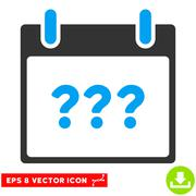 Unknown Day Calendar Page Vector Eps Icon Stock Illustration