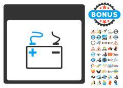 Accumulator Calendar Page Flat Vector Icon With Bonus Stock Illustration