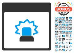 Alert Calendar Page Flat Vector Icon With Bonus Stock Illustration
