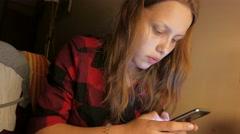 Teen Girl Studying. 4K UHD Stock Footage