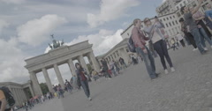 Brandenburg Gate (Brandenburger Tor) - Berlin, Germany - 4K Stock Footage