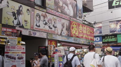 Maid Cafes in Akihabara Electric District, the Otaku Center Stock Footage