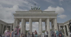 Brandenburg Gate (Brandenburger Tor) - Berlin, Germany - 4K Stock Footage