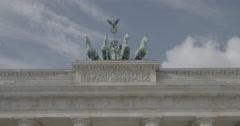 Brandenburg Gate (Brandenburger Tor) CLOSE UP - Berlin, Germany - 4K Stock Footage