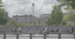 Memorial to the Murdered Jews of Europe - Berlin, Germany - 4K Stock Footage