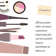 Cosmetics and fashion background. Stock Illustration