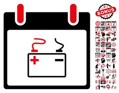 Accumulator Calendar Day Flat Vector Icon With Bonus Stock Illustration