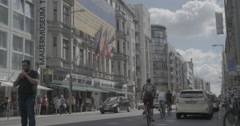 Checkpoint Charlie Museum - Berlin, Germany - 4K Stock Footage