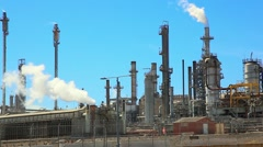 Oil refinery industrial factory station and petroleum petrochemical plant Arkistovideo