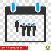 Army Squad Calendar Day Eps Vector Icon Stock Illustration