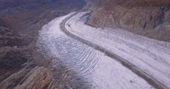 Over Aletsch glacier Switzerland - Aerial 4K Stock Footage