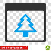 Fir Tree Calendar Page Eps Vector Icon Stock Illustration