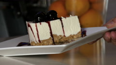 Serving a piece of cake 4K Stock Footage
