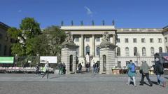 Humboldt University building in Berlin Stock Footage
