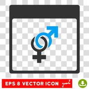 Marriage Calendar Page Eps Vector Icon Stock Illustration