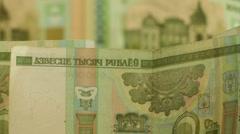 Belarusian rubles Stock Footage