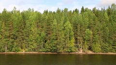 Landscape on banks of the Svir river in north Russia Stock Footage