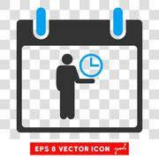 Time Manager Calendar Day Eps Vector Icon Stock Illustration