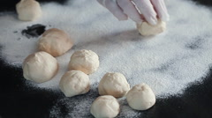 Preparing Ukranian Pork Dumplings Stock Footage