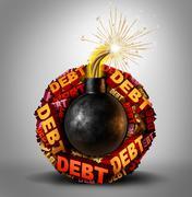 Debt Bomb Stock Illustration