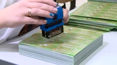 Circuit board quality check Stock Footage