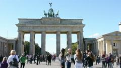 The Brandenburg gate Stock Footage