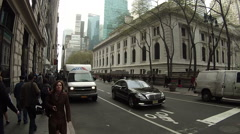 Pan shot of the New York Public Library. With nearly 53 Stock Footage