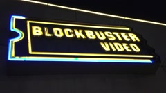 LOS ANGELES - A BlockBuster Video store goes out of business Stock Footage