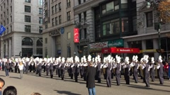 New York City Veterans Day Parade is the largest veteran parade in USA Stock Footage
