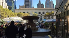 NEW YORK CITY: Bryant Park is a privately managed public park. The Stock Footage