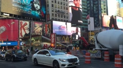 NEW YORK CITY: Times Square, features animated LED Stock Footage