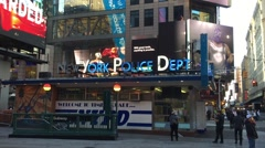NEW YORK: The NYPDs Times Square police station substation Stock Footage