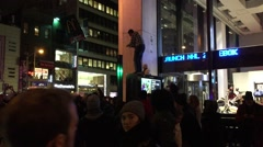 NEW YORK CITY: Protestors react after Grand Jury in Eric Garner case Stock Footage