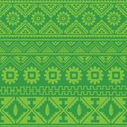 Green native american ethnic pattern Stock Illustration