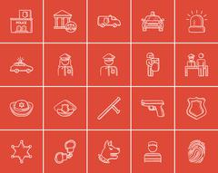 Police sketch icon set Piirros