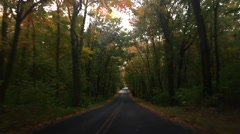 Stable Fall Road Drive Stock Footage