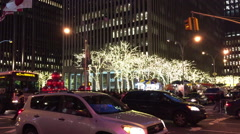 NEW YORK CITY: Chase Manhattan bank gets into the Christmas Stock Footage