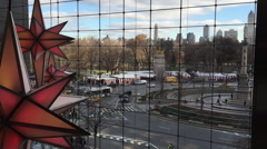 NEW YORK CITY: Holiday Under the Stars at Time Warner Center Stock Footage