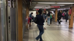 NEW YORK CITY: Pedestrians and citizens of Manhattan and boroughs Stock Footage