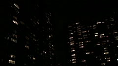 NEW YORK CITY Night time NX establishing shot of apartment building, household, Stock Footage