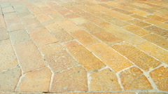 Summer day milan city walking tile legs view 4k time lapse italy Stock Footage