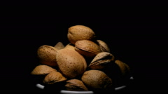 Almonds nuts Stock Footage