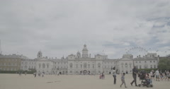 Horse Guards Parade and The London Eye / London, England - 4K Stock Footage