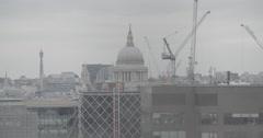 St. Paul's Cathedral - London Skyline - London, England - 4K Stock Footage