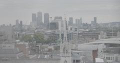 London Skyline/Canary Wharf - London, England - 4K Stock Footage