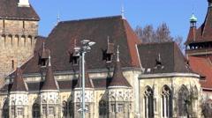 Vajdahunyad Castle, Budapest, Hungary. Stock Footage