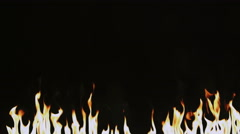 Fire flames isolated on black Stock Footage