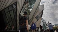 Time Lapse Toronto museum Stock Footage