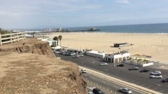 Santa Monica, California: A DX daytime establishing shot of the Stock Footage
